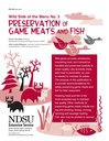 Wild Side of the Menu 3- Preservation of Game Meats and Fish
