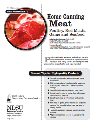 Home Canning Meat