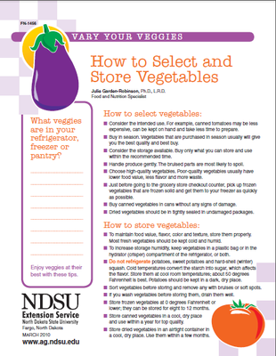 How to Select and Store Vegetables