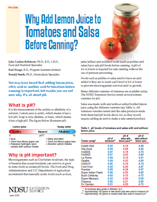 Why Add Lemon Juice to Tomatoes