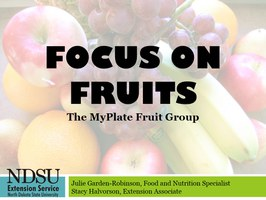 MyPlate Focus on Fruits