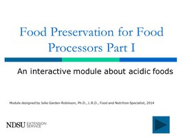 Food Preservation for Food Processors