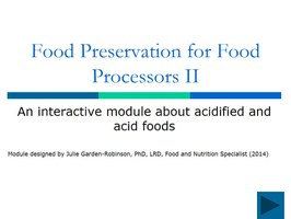 Food Preservation for Food Processors Part 2