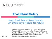 Food Stand Safety - Adult Module