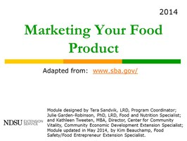 Market Your Food Product