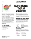 Exploring MyPlate Budgeting total Calories