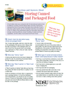 Storing Canned and Packaged Food