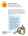 Handling Breast MIlk, Formula and Baby Food