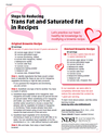 Steps to Reducing Trans Fat and Saturated Fat in Recipes