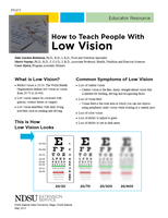 How to Teach People with Low Vision