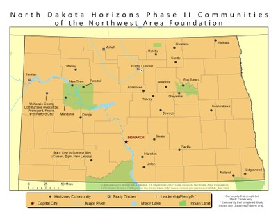 North Dakota Map of Horizons II Communities