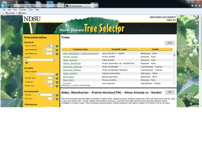 ND Tree Selector - Front page