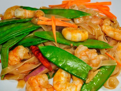 The crisp, sweet pods of snow peas are delightful in stir fries.