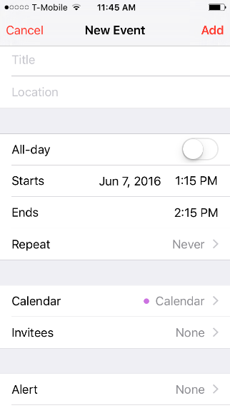 If you have multiple calendars on our phone by selecting calendar (see image) you can select which calendar to add the event to.