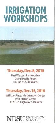 Irrigation Workshop 2016