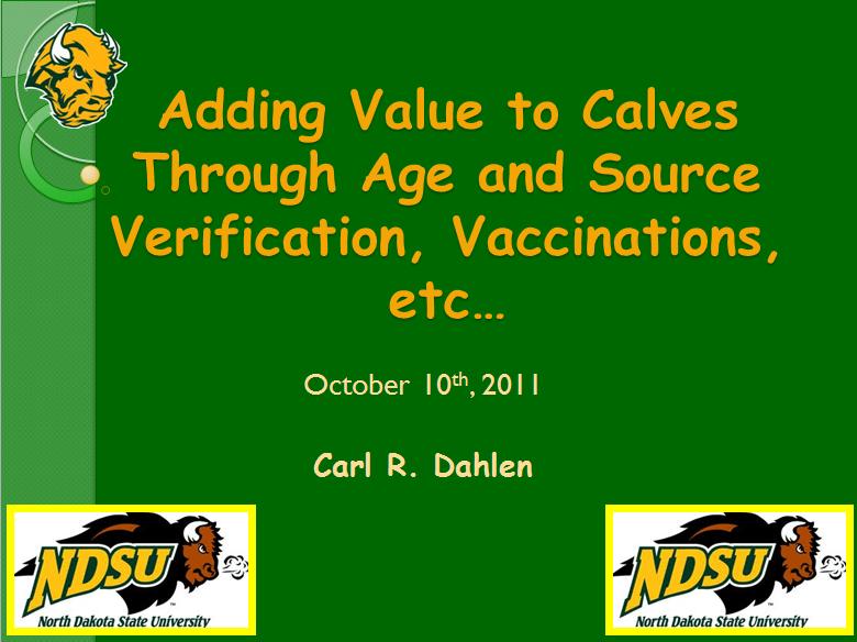 Adding Value to Calves