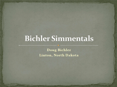 Doug Bichler - Title Slide