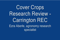 Cover Crops Research Review
