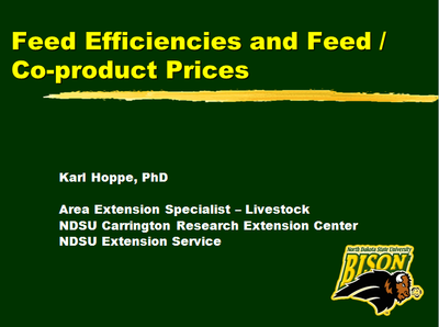 Feed Efficiencies