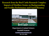 Research from Beef Cattle Research Complex - Title Slide