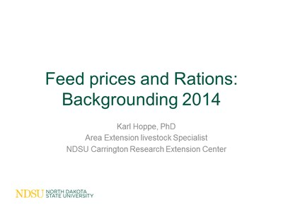 Feed Costs and Rations Slide