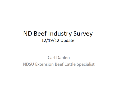 ND Beef Industry Survey - Title Slide