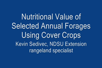 Nutritional Value of Cover Crops