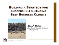 Building a Strategy for Success in a Changing Beef Industry Climate - Title Slide