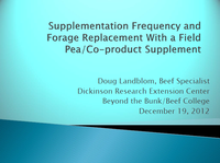 Supplementation Frequency and Forage Replacement - Title Slide