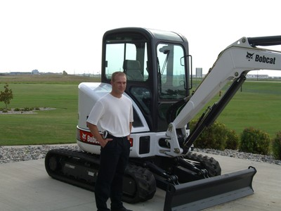 Dave by excavator full photo