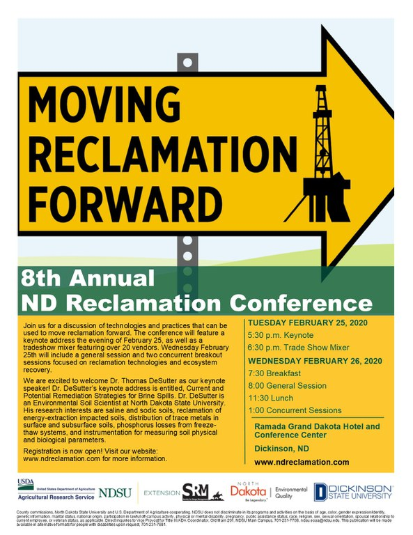 Information about the 8th Annual Reclamation Conference