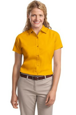 Ladies Button-Front Short Sleeve Shirt