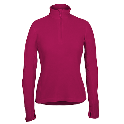 Ladies Lightweight Microfleece 1/4-Zip Pullover