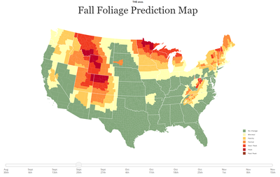 Fall Foliage Predictor Map Sept 20
