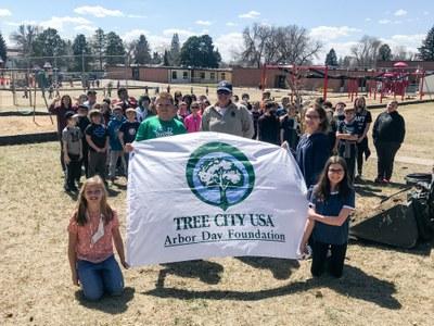 Mandan celebrated their 2021 Arbor Day on Apr 22