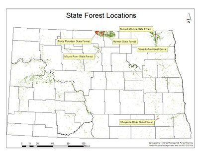 NDFS State Forest Map