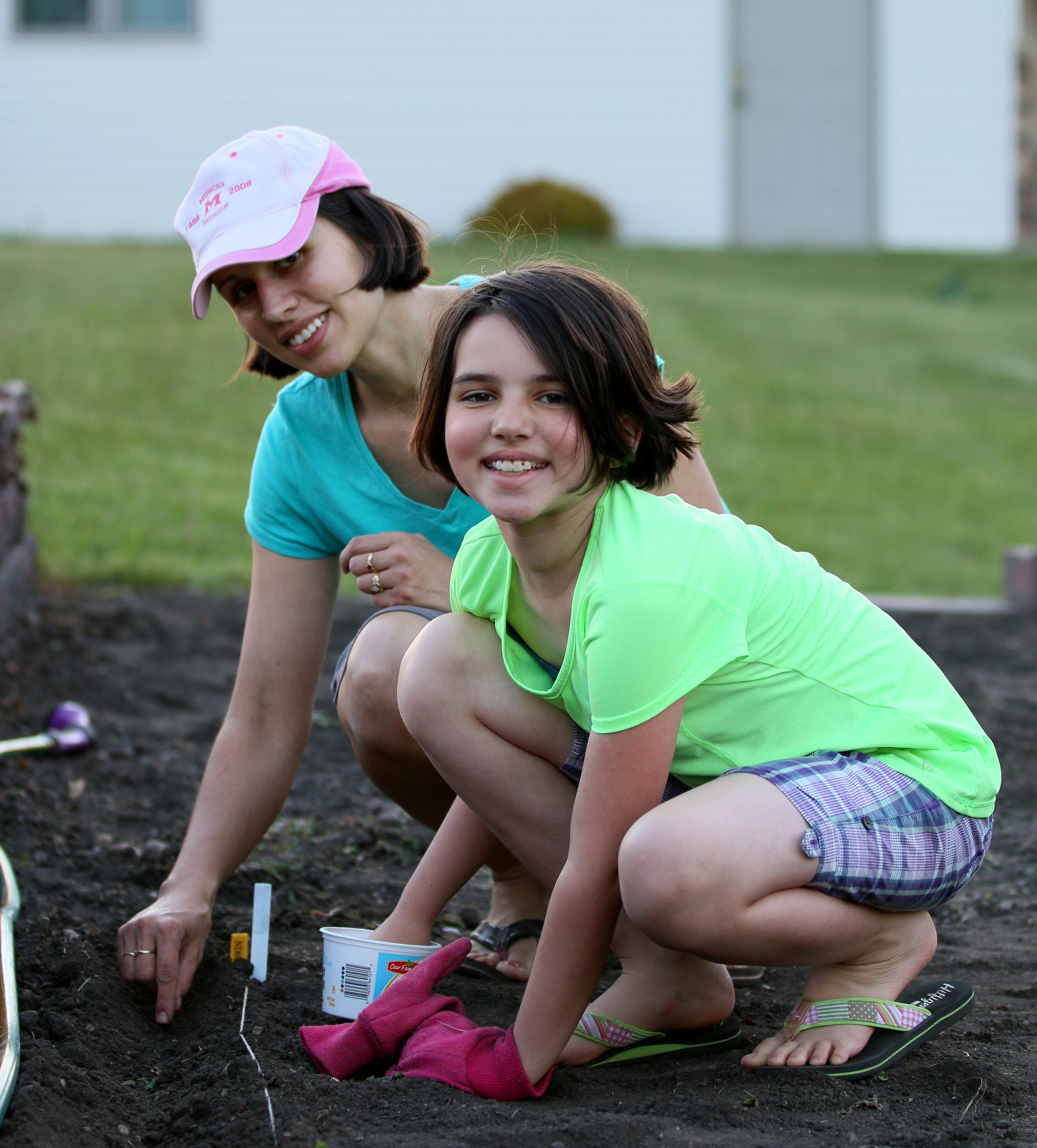 These gardeners are sowing their garden. (Photo courtesy of Angie Waletzko, Lisbon, N.D.