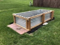 This newly constructed raised garden bed was made of galvanized metal and pressure-treated wood. (NDSU photo)