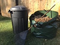 You can layer dead, dry leaves with your kitchen scraps to compost during the winter. (NDSU photo)