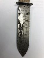 A hori hori knife can be used to cut, dig and measure. (NDSU photo)
