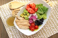 This grilled chicken salad is lighter fare to enjoy during the warm summer months. (NDSU photo)