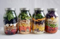 Salads in a jar are easy to make and can provide you with a balanced meal. (NDSU photo)