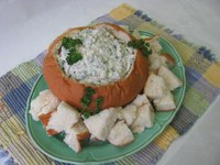 This spinach dip is perfect for spring gatherings. (NDSU photo)