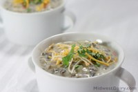 Creamy Wild Rice and Mushroom Soup is a warm, comforting meal on a cold winter night. (Photo courtesy of the Midwest Dairy Council)