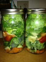 Salad in a jar photo by midwesternrose