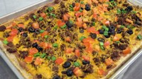 This easy taco pizza recipe can be topped with produce from your garden later this season. (NDSU Photo)