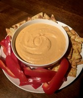 This roasted bell pepper hummus is nutrient-rich and lower in calories. (NDSU photo)