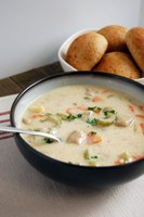 This knoephla soup recipe has been modified to make it more healthful. (NDSU photo)