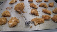 You can bake these homemade chicken nuggets in the oven. (NDSU photo)