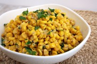 Here's a recipe you can use with fresh, canned or frozen corn and cilantro as a creamy side dish. (NDSU photo)